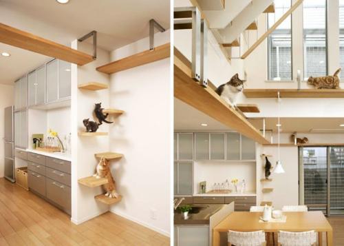 Escalera decorativa para gatos - Casa para gato ...